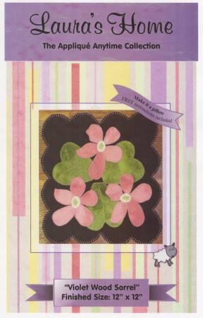 Violet Wood Sorrel Applique Pattern