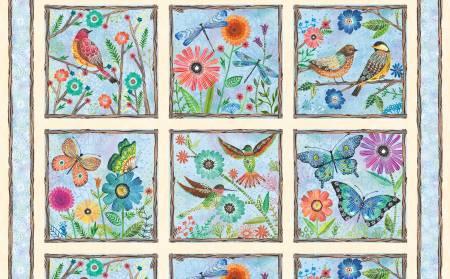 Multi Floral Flight Craft Panel