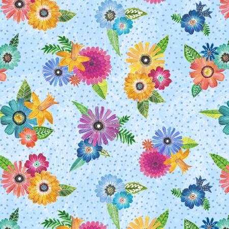 WILM- Floral Flight Blue Floral Bouquets