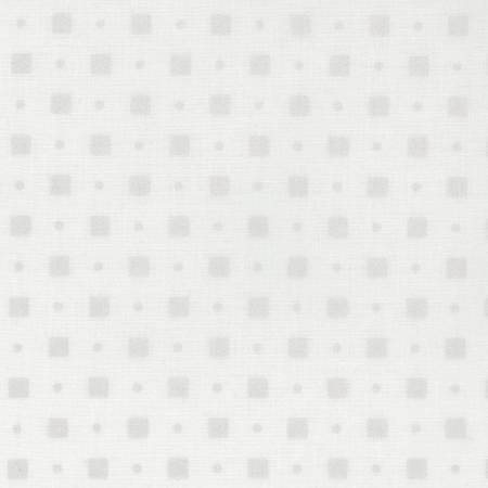 White Square Dot Pearlized Cotton
