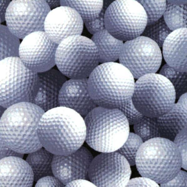 Golf Balls on Black - by FabricQuilt