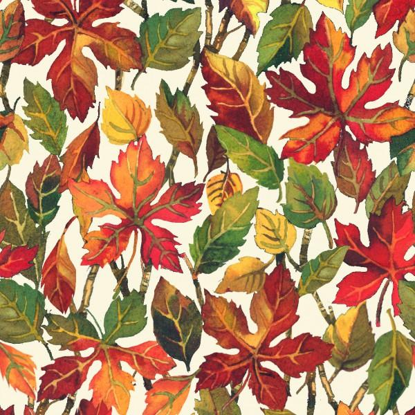 Cream Fall Leaves 112-30262