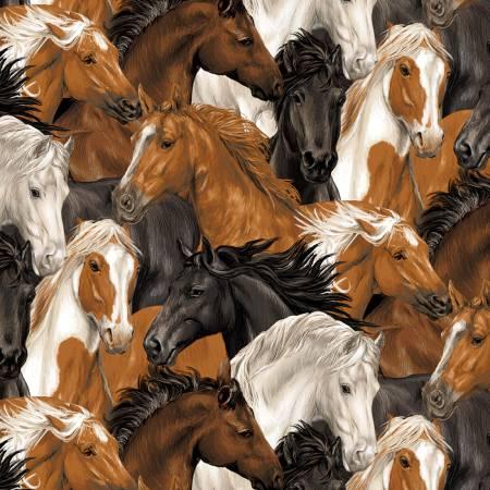 Run Free Stacked Horses