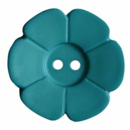 15mm Flower Button Dark Teal