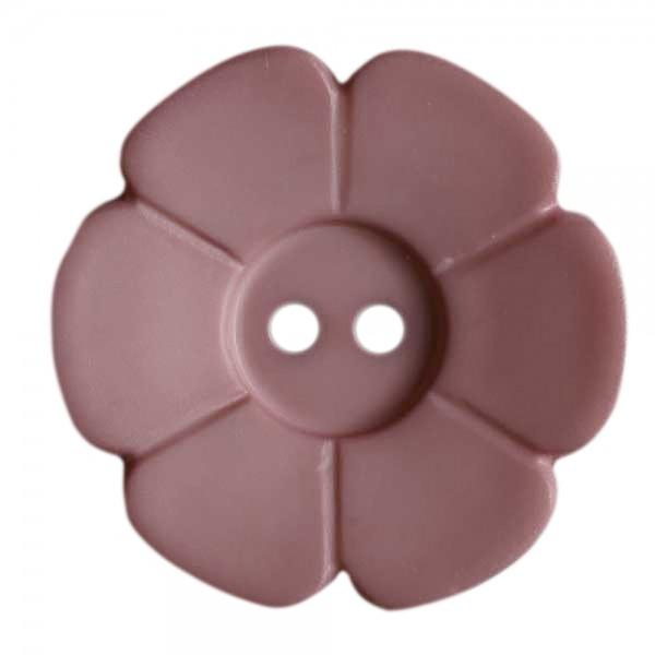 15mm Flower Button Dk Pink