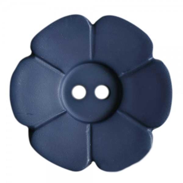 15mm Flower Button Blue Violet
