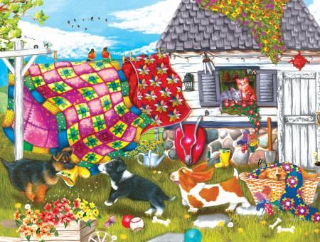 Backyard Pups 500pc Puzzle