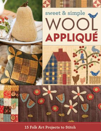 BK W Sweet & Simple Wool Applique - Softcover