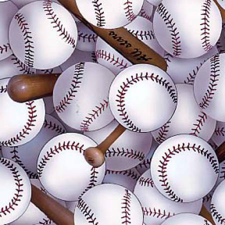 Elizabeths Studio - White Sports Packed Baseballs 112E-WHT