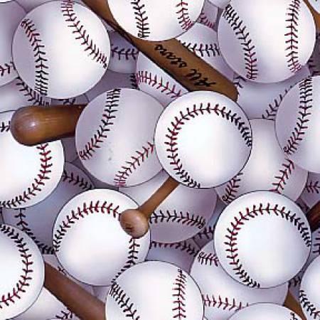 White Sports Packed Baseballs by Elizabeths Studio