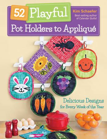 BK Q 52 Playful Pot Holders to Applique