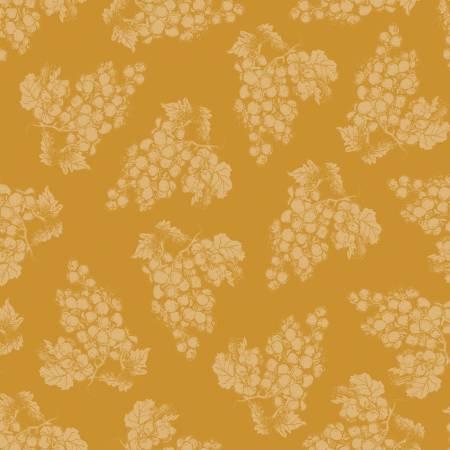 HG- Vintage Grapes Mustard Tone On Tone