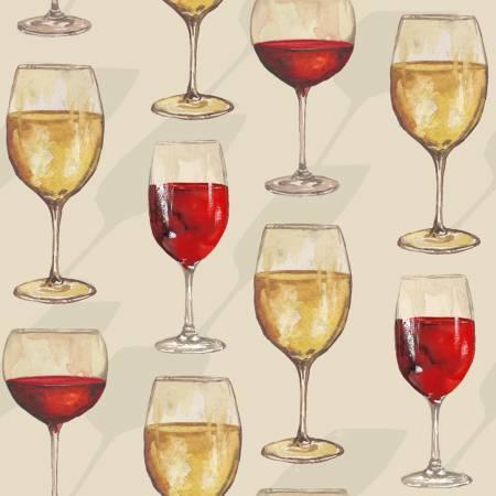 Vintage Ecru Wine Glasses