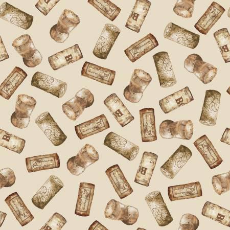 HG- Vintage Corks Scattered On Beige