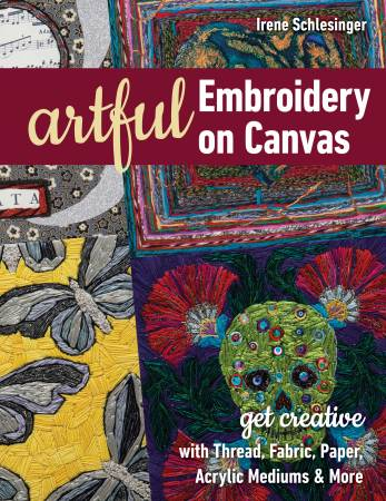 Artful Embroidery on Canvas by Irene Schlesinger