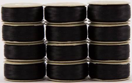 12 Prewound Bobs 625 L/Black
