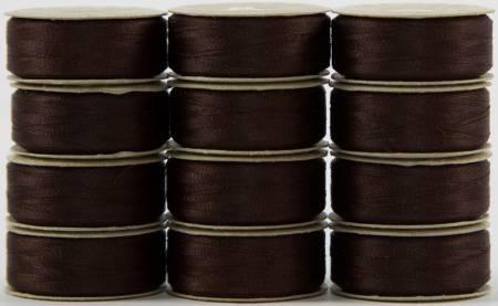 SuperBobs 648 Dark Brown M-Style 60 Wt Pre-Wound Bobbins Superior Threads