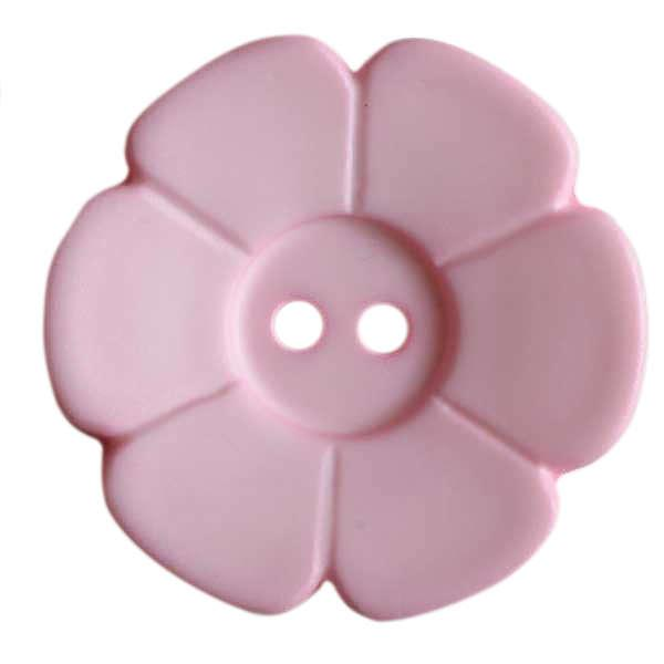 28mm Flower Button Pink