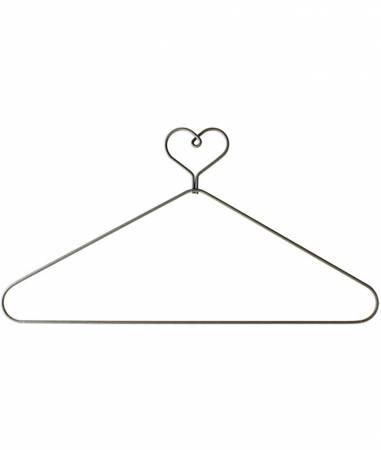 12in Heart Top with Open Center Hanger