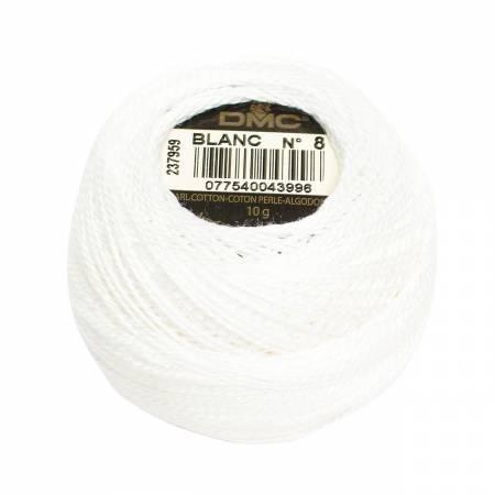 Pearl Cotton Balls Size 12 White