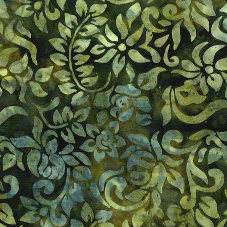 Batik Vines and Flowers - Green