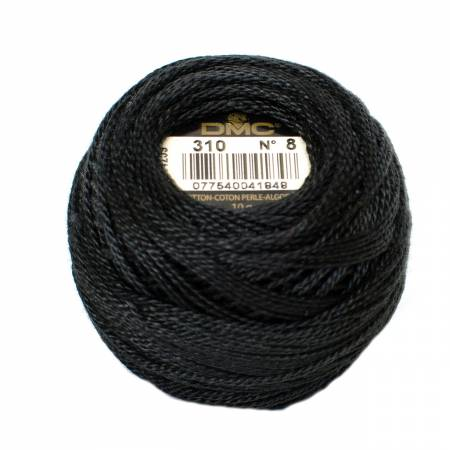 Pearl Cotton Balls Size 5 Black