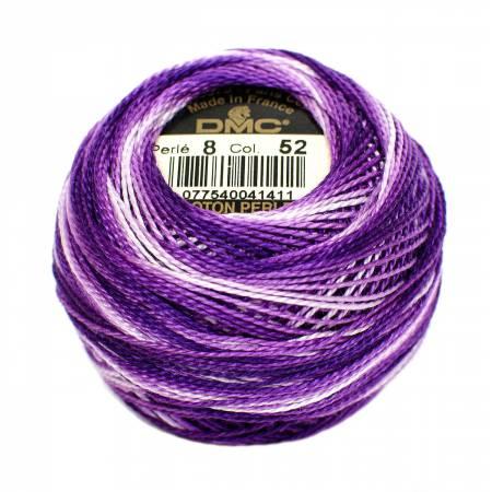 DMC Perle Cotton Size 8 0052 Variegated Violet
