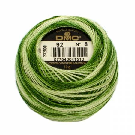 DMC Perle Cotton Size 8 0092 Variegated Avocado