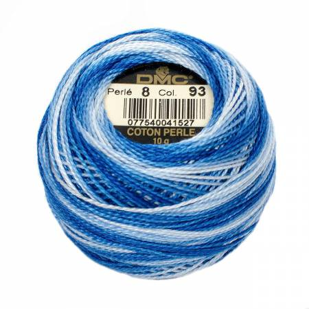 Pearl Cotton Size 8 - 93 Cornflower Blue (variegated)
