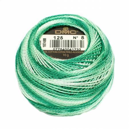 Pearl Cotton Balls Size 8 Variegated Seafoam Green