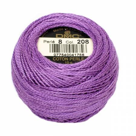 DMC Perle Cotton Size 8 208 Very Dark Lavender