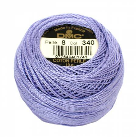 DMC Perle Cotton Size 8 340 Medium Blue Violet