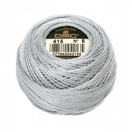 DMC Perle Cotton Size 8 415 Pearl Gray