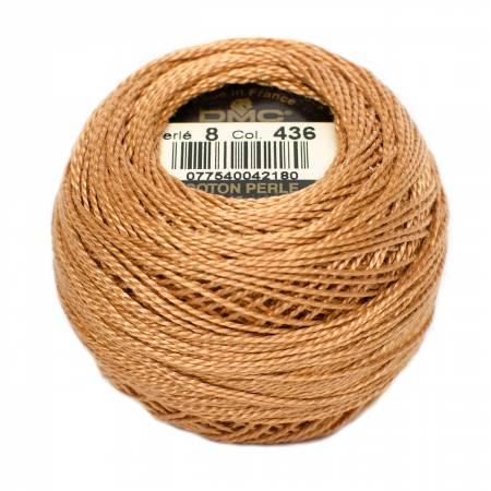 DMC Perle Cotton Size 8 436 Tan