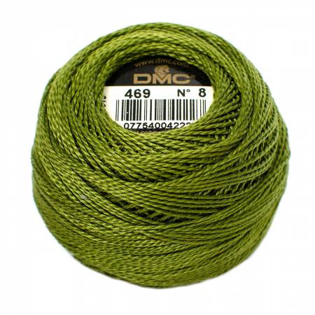 DMC Perle Cotton Balls Size 8 - 0469 Avocado Green