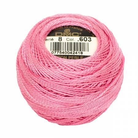 DMC Perle Cotton Size 8 0603 Cranberry