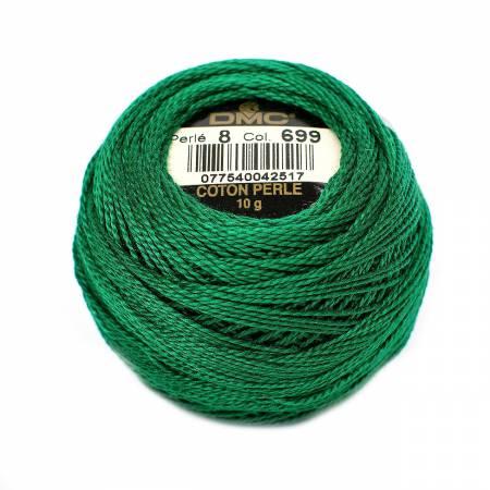 DMC Perle Cotton Balls Size 8 - 0699 Christmas Green