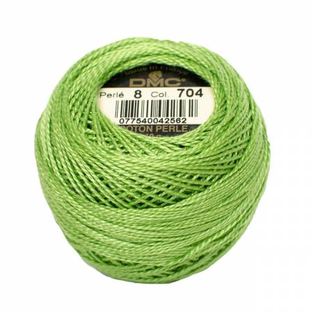 Pearl Cotton Balls Size 8 Bright Chartreuse