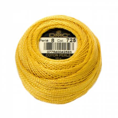 DMC Perle Cotton Size 8 725 Topaz
