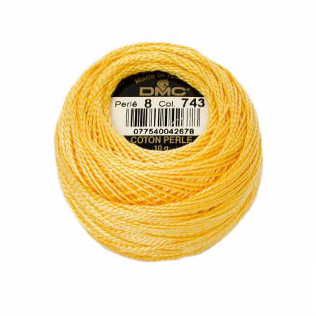 Pearl Cotton Balls Size 8 Medium Yellow