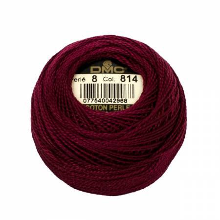 DMC Perle Cotton Balls Size 8 - 0814 Dark Garnet