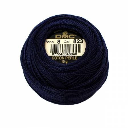 DMC Perle Cotton Size 8 823 Dark Navy Blue