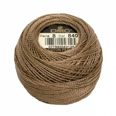 DMC Perle Cotton Size 8 840 Medium Beige Brown