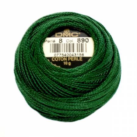 DMC Perle Cotton Size 8 890 Ultra Dark Pistachio Green
