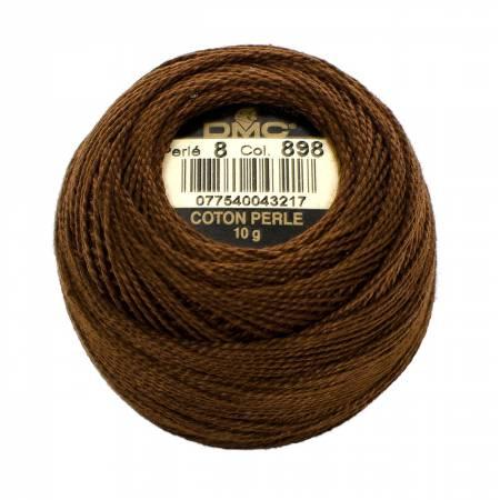DMC Perle Cotton Size 8 898 Dark Coffee Brown