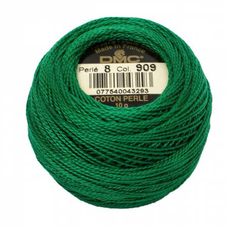 DMC Perle Cotton Size 8 909 Dark Emerald Green