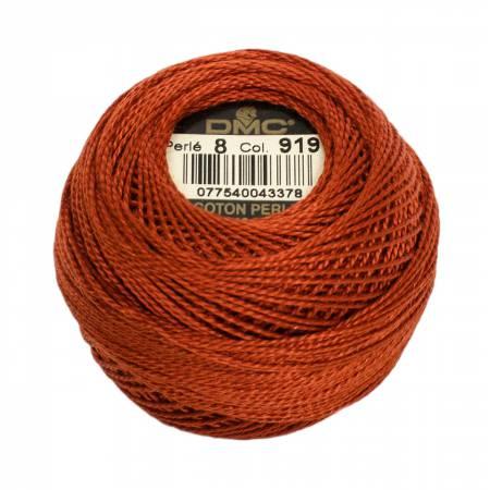 DMC Perle Cotton Size 8 919 Red Copper