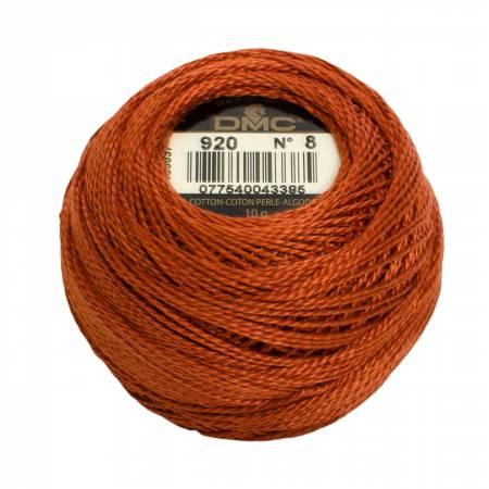 DMC Perle Cotton Balls Size 8 - 0920 Medium Copper
