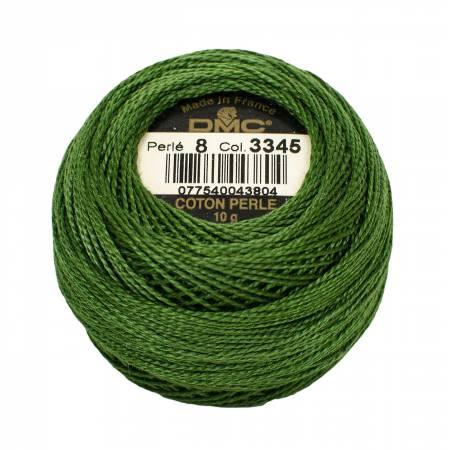 DMC Perle Cotton Balls Size 8 - 3345 Dark Hunter Green