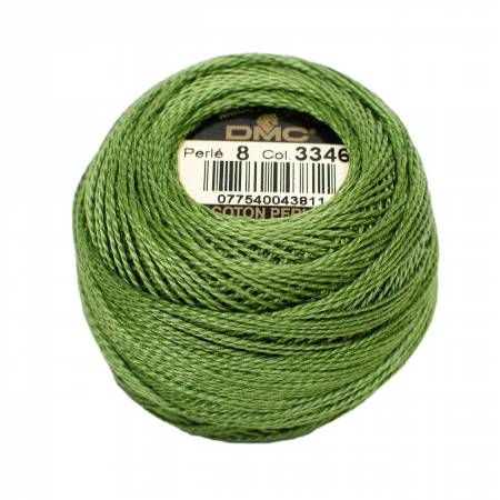 DMC Perle Cotton Size 8 3346 Hunter Green